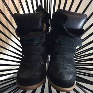 Authentic Isabel Marant Black Beckett Sneakers